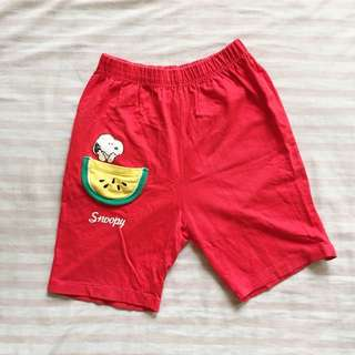[KIDS] Snoopy Red Shorts