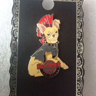 Hard Rock Cafe Pins - LAS VEGAS HOT 2015 MOHAWK DOGGY PIN!