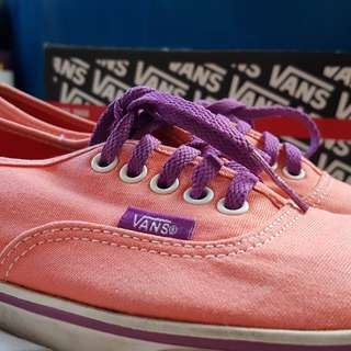 Vans Authentic Lo Pro Pop Persimmon Sparkling Grape - Free Shipping