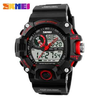 SKMEI Jam Tangan Analog Digital Pria - AD1029 - Red