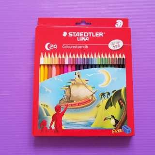 ⚘Staedtler Luna⚘24 coloured pencils with FREE sharpener