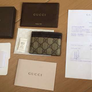Gucci cards holder pavilion full set original