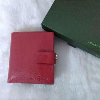 🚚 LONGCHAMP紅色真皮短夾