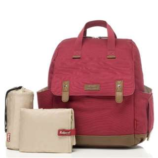 Babymel Robyn Convertible Backpack Diaper Bag - Red