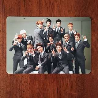 EXO OT12 GROWL TYPE A OFFICIAL PHOTOCARD