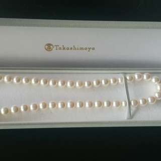 South Sea Pearl Necklace  Silver Strand