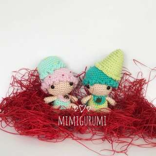 Valentine Ice cream Cup & Cone Doll Set
