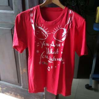 Red Shirt Telkomsel You are what you listen