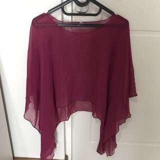 pink transparant top