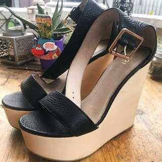 Kookaï Black Wedge Heels