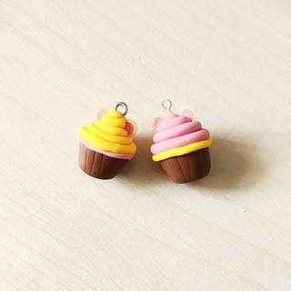 Polymer Clay Grapefruit Cupcake