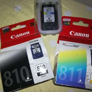 Canon Ink 810 and 811