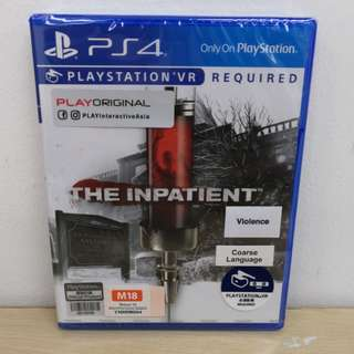 (Brand New) PS4 The Inpatient / R1