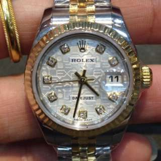 Rolex lady 26mm 179173G , jubilee (computer) face with diamonds *ONLY WATCH & box* F series