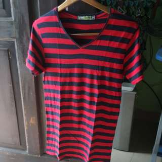 Lyric Red and black stripe shirt