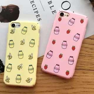 🌈Korean drink milk phone cover