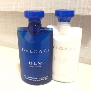 Bvlgari Shampoo and Shower Gel & After Shave Balm