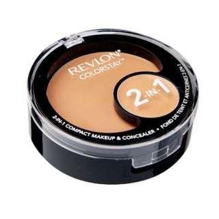 Revlon colorstay 2-in-1 compact makeup & concealer 180 sand beige