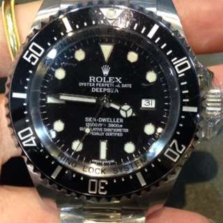 Used Rolex Deep sea 🌊 black 116660LN Alphanumeric series, with box & cert Year 2013