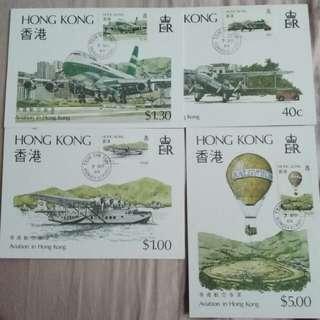 八四香港航空名信片連郵票