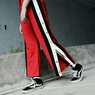 Gucci buttoned slit pants