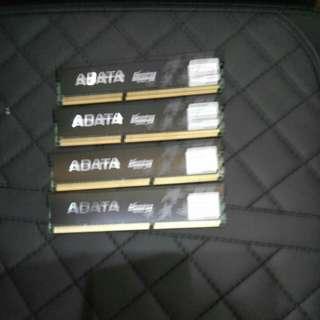 16gb ddr3-1600 in 4 dimms Adata gaming memory