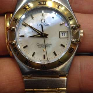 Omega constellation steel/18k yellow gold/mother-of-pearl 28mm Automatic *ONLY WATCH & BOX*