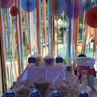 Candy Bar with Cotton Candy Machine