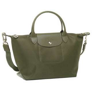 Authentic longchamp neo small moss green