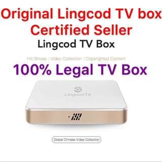 100% Licensed legal Lingcod TV Box (1year/3 year subscription available)