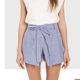 Striped Skorts / celana rok garis2