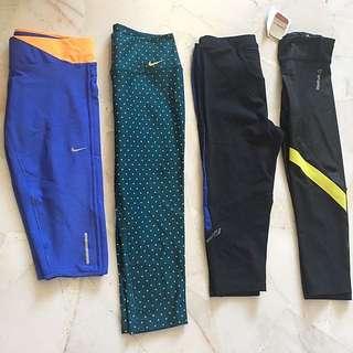 Nike / Saucony / Reebok Capri 3/4 Tights