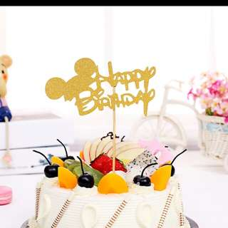 Mickey Mouse Cake Flag / Topper