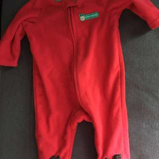 Christmas fleece onesie