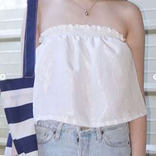White tube top backless