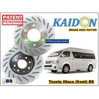 "Toyota Hiace brake disc rotor KAIDON (FRONT) type ""RS"" / ""BS"" spec"