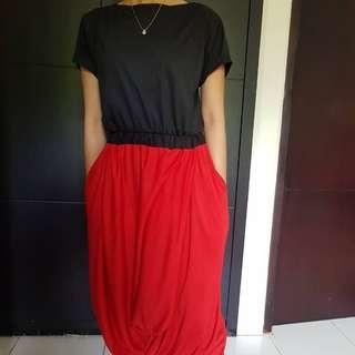 Red n black dress