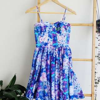 Sportsgirl floral dress w/ detachable straps