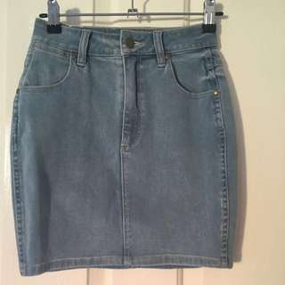 Wrangler High Waisted Denim Skirt