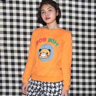 Orange Sweater Lucu 'Bob Bish' Bear