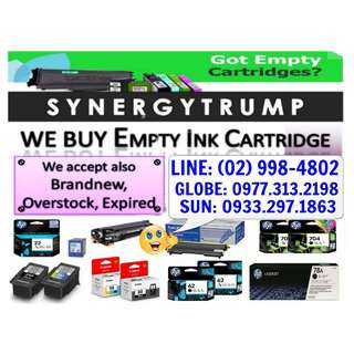 HIGHEST PRICE BUYER OF INK CARTRIDGES AND EMPTY TONER