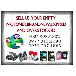BUYER OF EMPTY INK CARTRIDGES & TONER