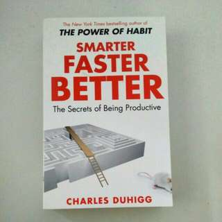 BN Smarter Faster Better : The Secrets of Being Productive by Charles Duhigg