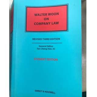 ACC3604 Walter Woon on Company Law