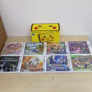 (Brand New) New Nintendo 2DS XL Pikachu Edition + 1 Pre-Selected Game (Choose from 8 Games)