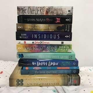 Stack of YA books