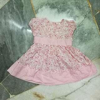 Baby poney Pink Dress 6-12M