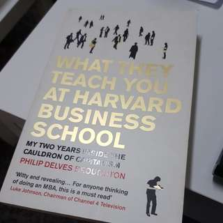 What They Teach at Harvard Business School