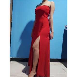Red sexy longdress