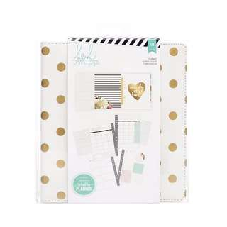 A5 Large Heidi Swapp Hello Gorgeous Gold Foil Dots Memory Planner